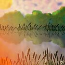 Water Pool and Reeds by Grant Wilson