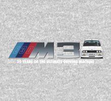 BMW E30 M3 25th Anniversary (Alpine White) White Text 2