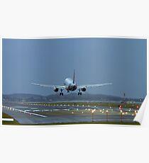 A320 Landing Poster