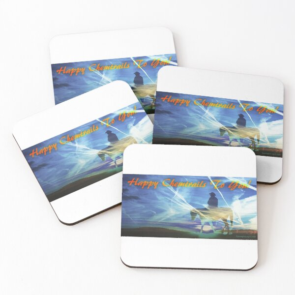 Happy Chemtrails to You Coasters (Set of 4)