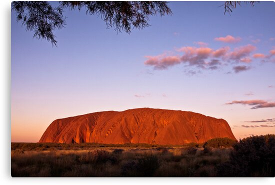 Sundown at the Rock by Lisa  Kenny