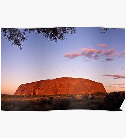 Sundown at the Rock Poster