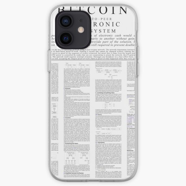 Bitcoin Whitepaper Poster iPhone Soft Case