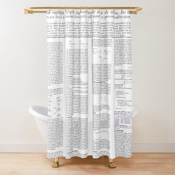 Bitcoin Whitepaper Poster Shower Curtain