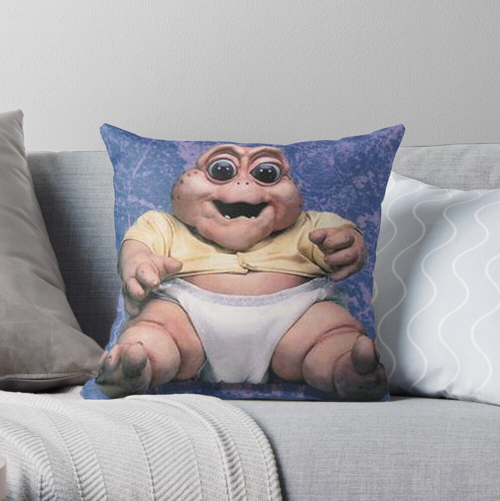 Baby Sinclair The Dinosaurs Throw Pillow
