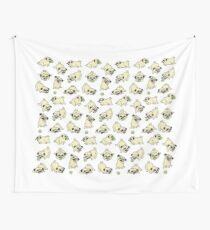 Playful Pugs Wall Tapestry