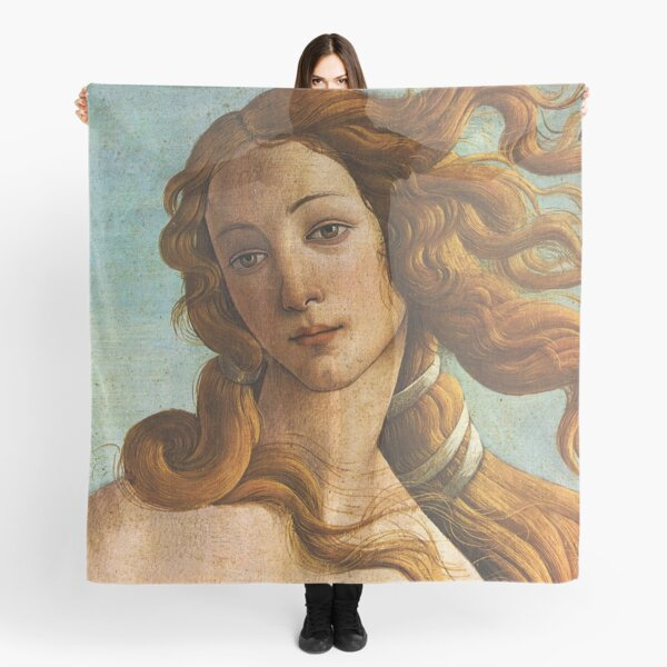 The Birth of Venus - Botticelli - close up Scarf