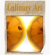 Culinary Art, Lemon Poster
