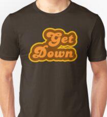 Get Down - Retro 70er Jahre - Logo Unisex T-Shirt