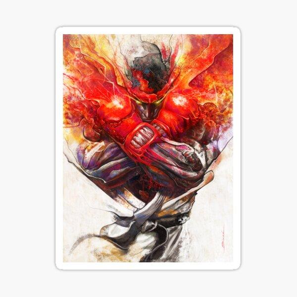 Street fighter, Ryu, fan art. Sticker