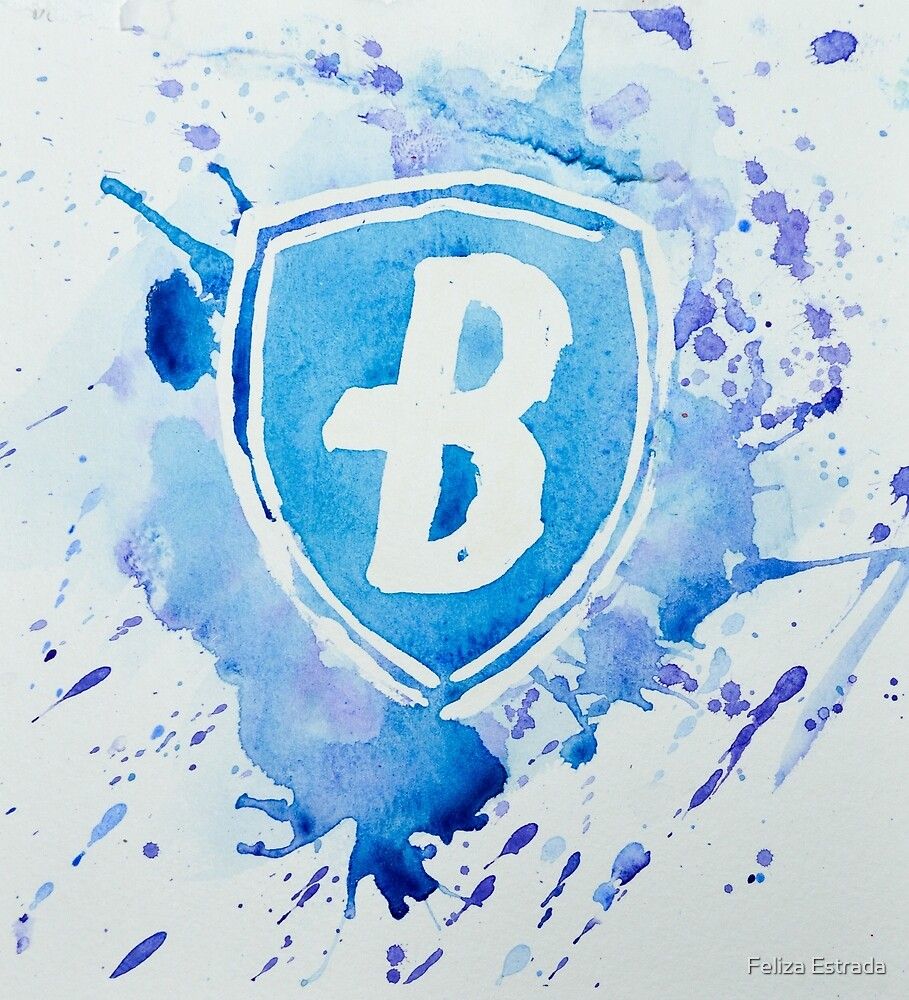 Blue Coats DCI Watercolor Logo by Feliza Estrada