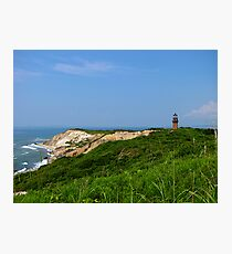Gay Head cliffs and lighthouse Photographic Print