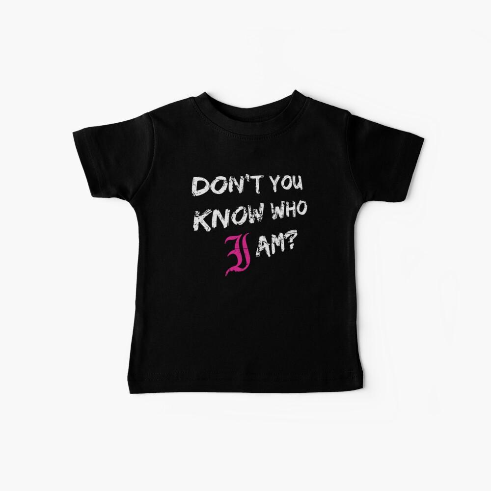 ¿No sabes quién soy? (Blanco) Camiseta para bebés