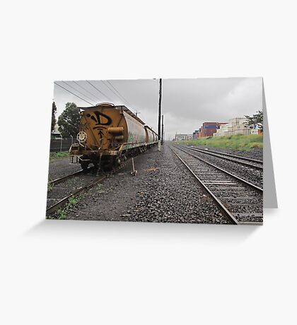 trackside Greeting Card