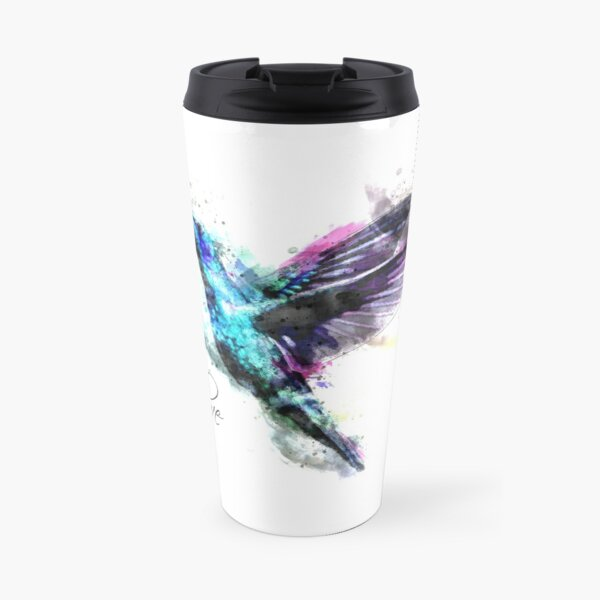 Watercolor Hummingbird Travel Mug