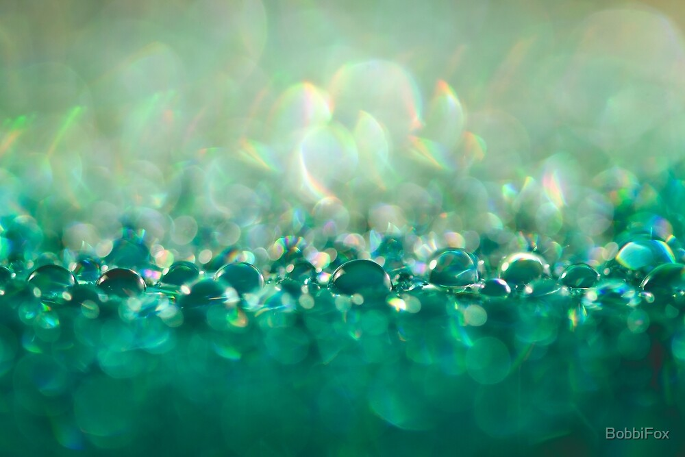Green Water Drops by BobbiFox