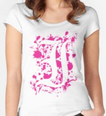 Negative Space 'I' Women's Fitted Scoop T-Shirt