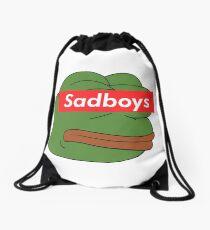 rare pepe sadboy Drawstring Bag