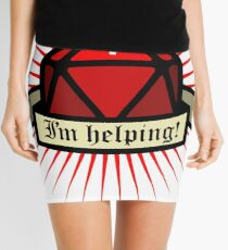 I'm helping - Role dice Mini Skirt