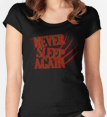 Elm had a Nightmare  Women's Fitted Scoop T-Shirt