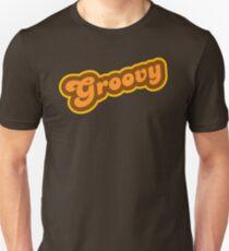 Groovy - Retro 70er Jahre - Logo Slim Fit T-Shirt