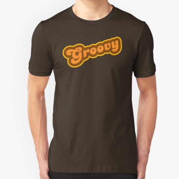 Groovy - Retro 70s - Logo Slim Fit T-Shirt