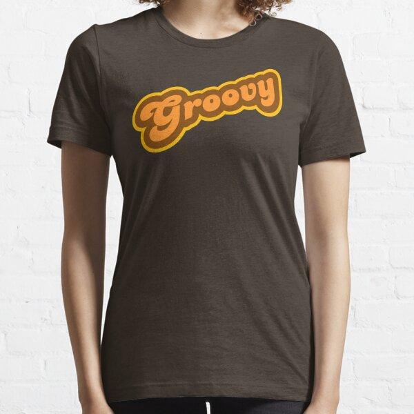Groovy - Retro 70s - Logo Essential T-Shirt