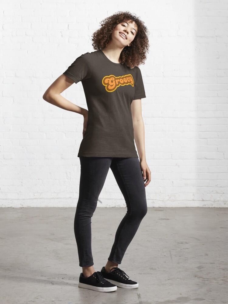 Alternate view of Groovy - Retro 70s - Logo Essential T-Shirt