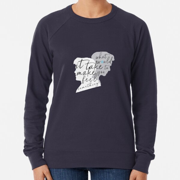 """Reed900 - Detroit Evolution - """"What Would It Take To Make You Feel Something?"""" Silhouette Art Lightweight Sweatshirt"""