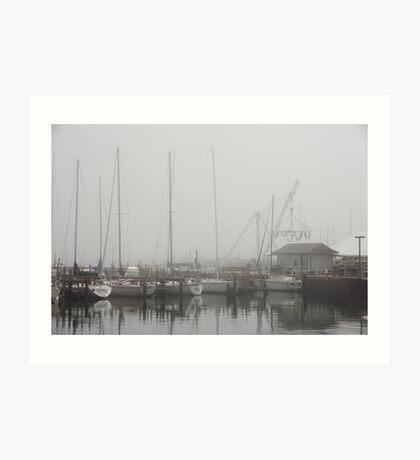 Misty Harbor Art Print