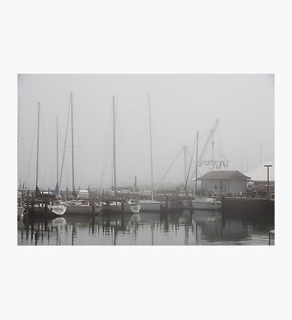 Misty Harbor Photographic Print