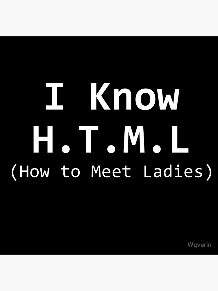 HTML (How To Meet Ladies) by Wyverin