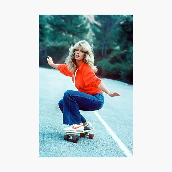 Farrah Skateboarding Photo! Photographic Print