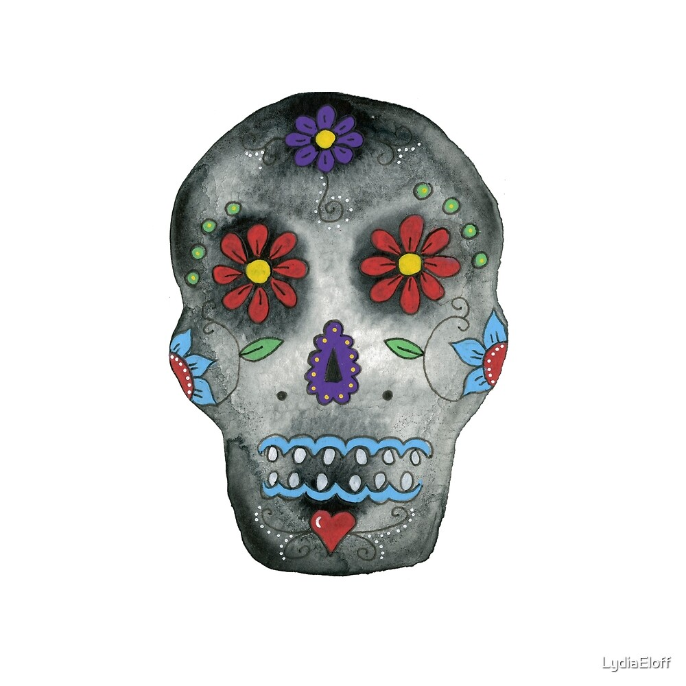 Day of the Dead Skull by LydiaEloff