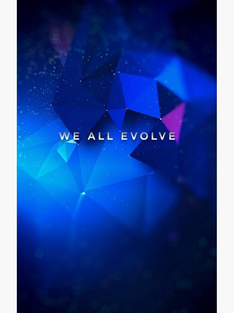 "Detroit Evolution - ""We All Evolve"" tagline  by octopunkmedia"