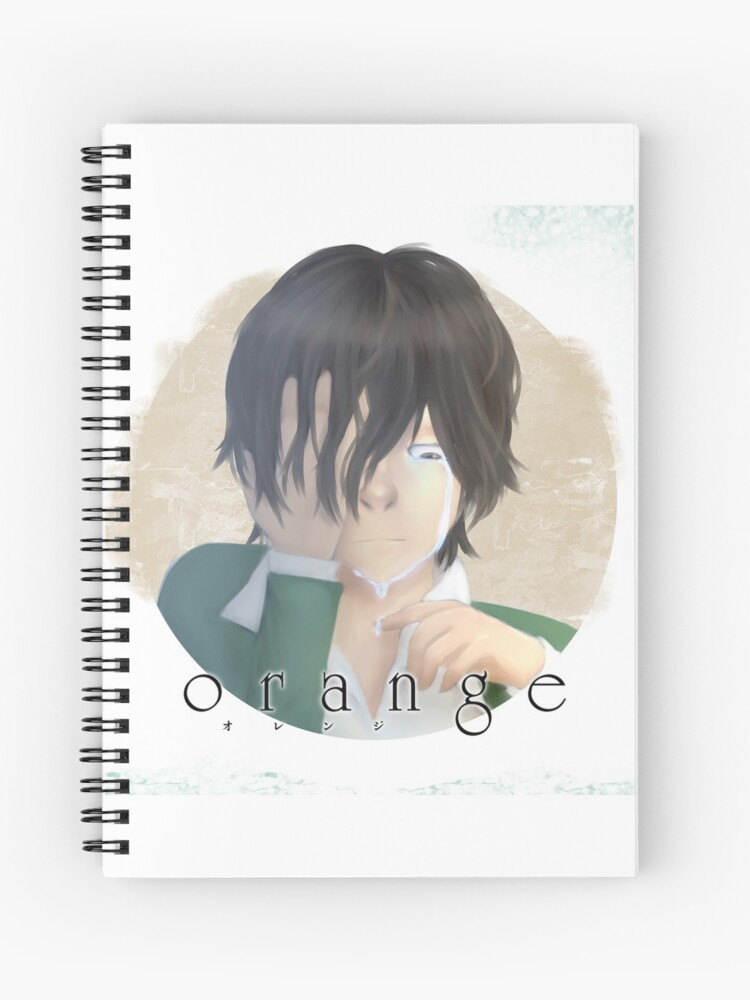 Anime Orange Kakeru Spiral Notebook By Poisonedsoju Redbubble
