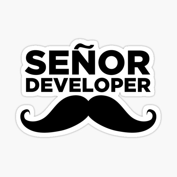 Senor Developer  Sticker
