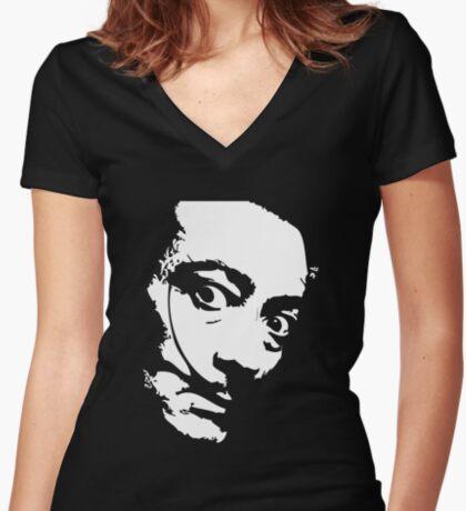 Salvador Dali Women's Fitted V-Neck T-Shirt