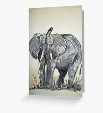 African Elephant sketch Greeting Card