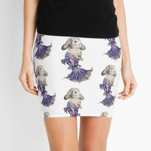 Betta Fish Mermaid Bunny Mini Skirt