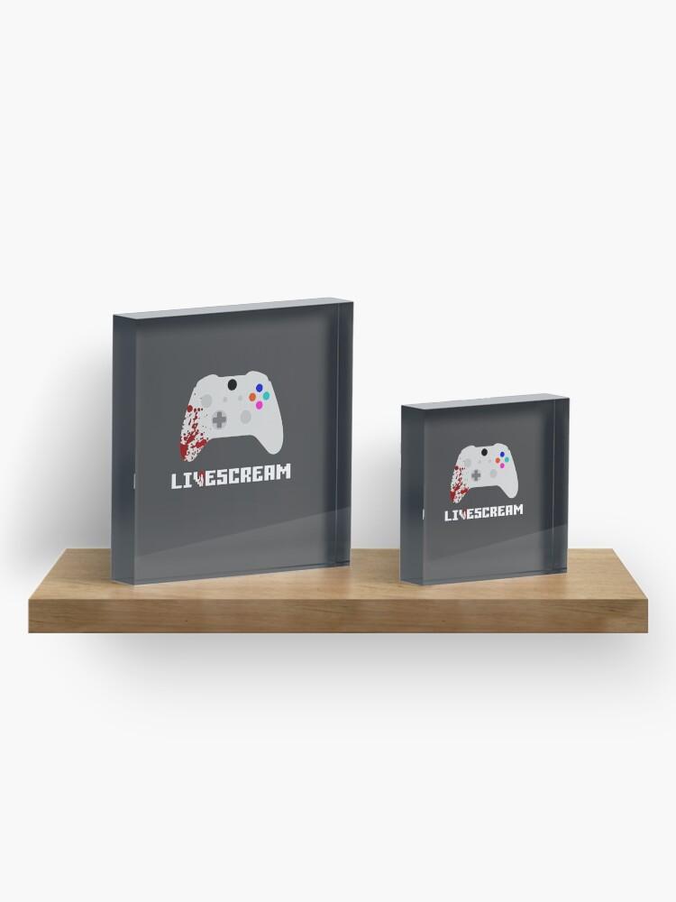 Alternate view of Livescream Poster Design Acrylic Block
