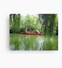 Canoeing on the Oconomowoc River Canvas Print