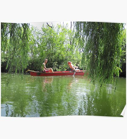Canoeing on the Oconomowoc River Poster