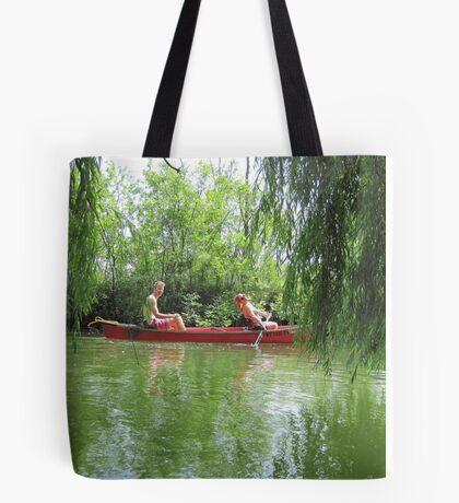 Canoeing on the Oconomowoc River Tote Bag