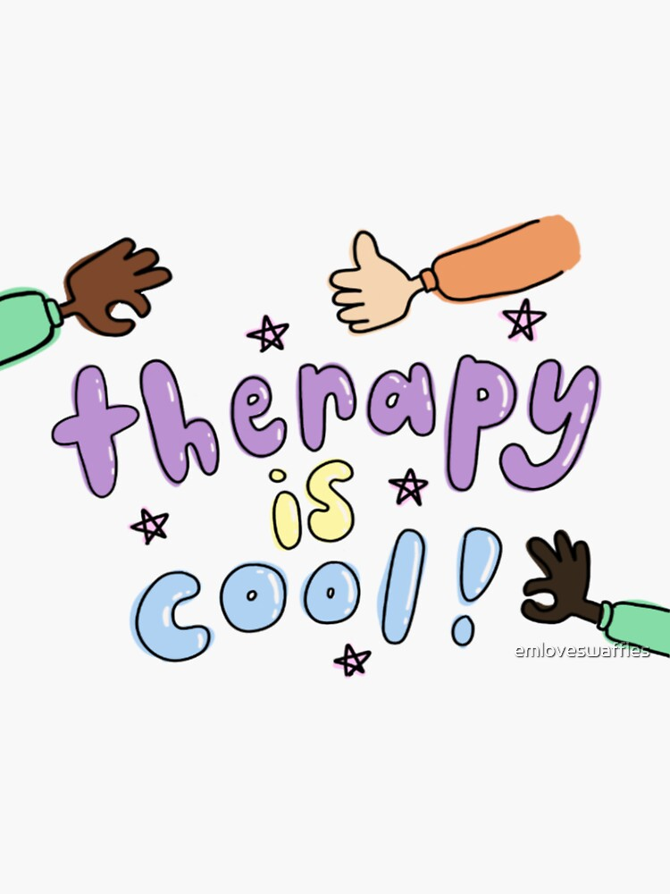 therapy is cool! positive mental health mantra by emloveswaffles