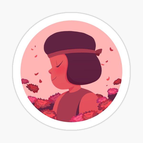 Pastel Ruby portrait Sticker