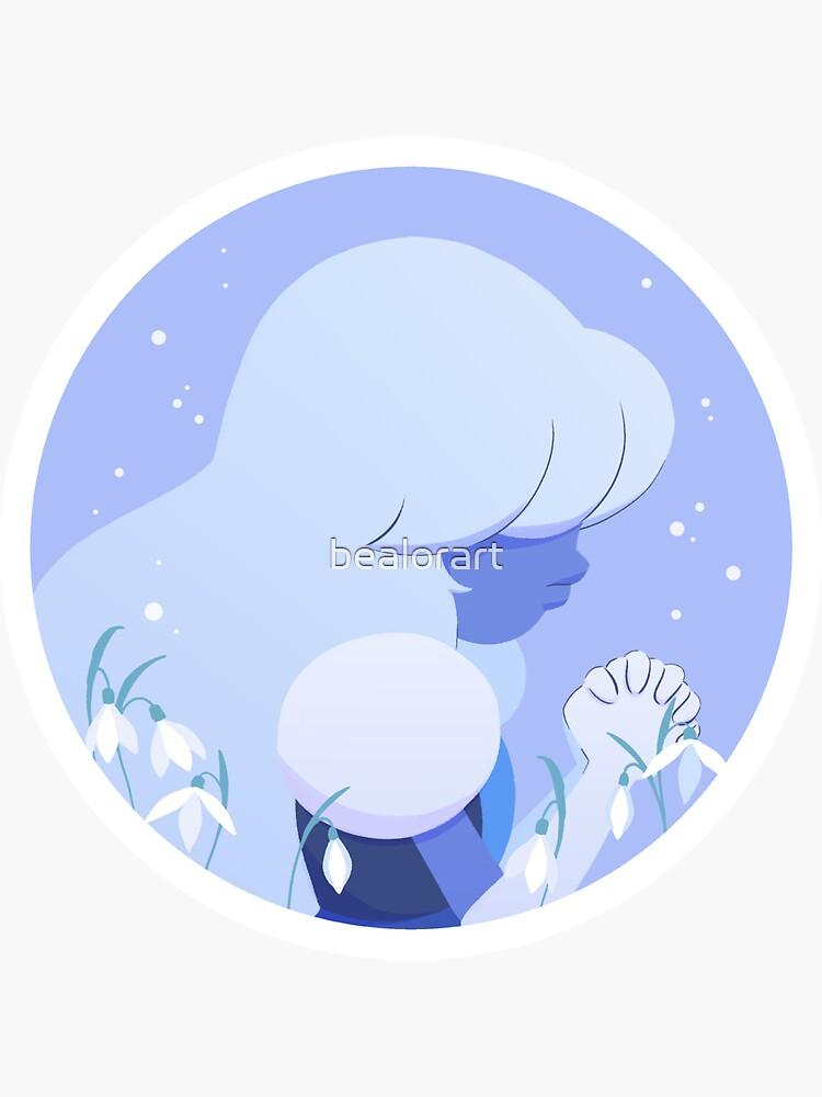 Pastel Sapphire portrait by bealorart