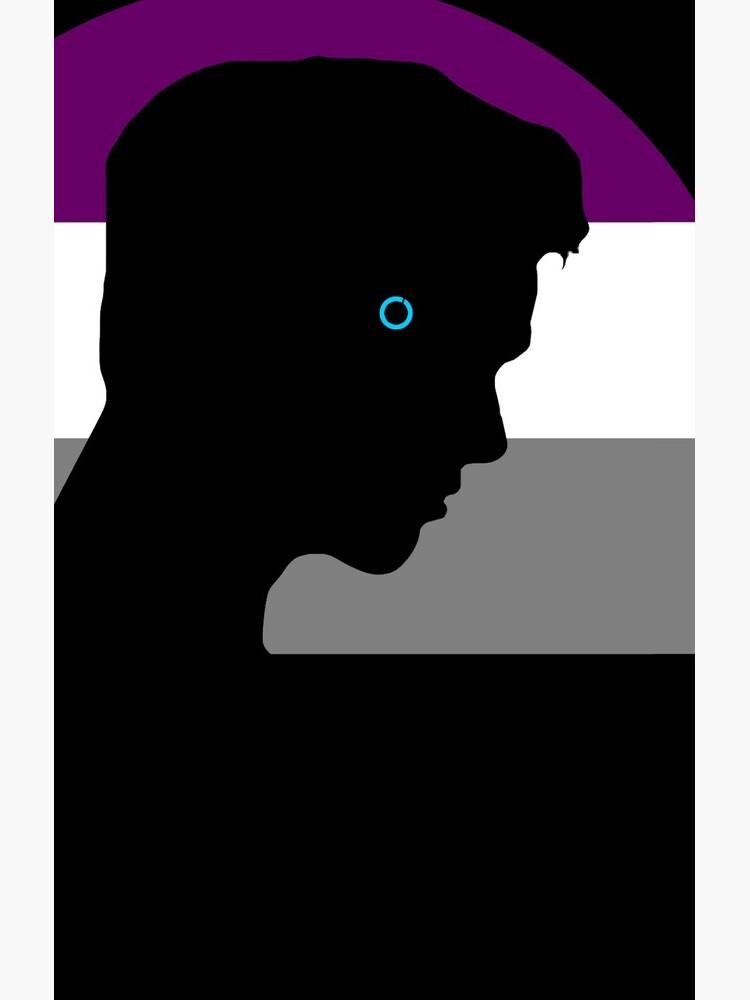 RK900 / Nines Asexual Flag by octopunkmedia