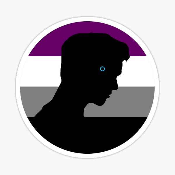 RK900 / Nines Asexual Flag Sticker