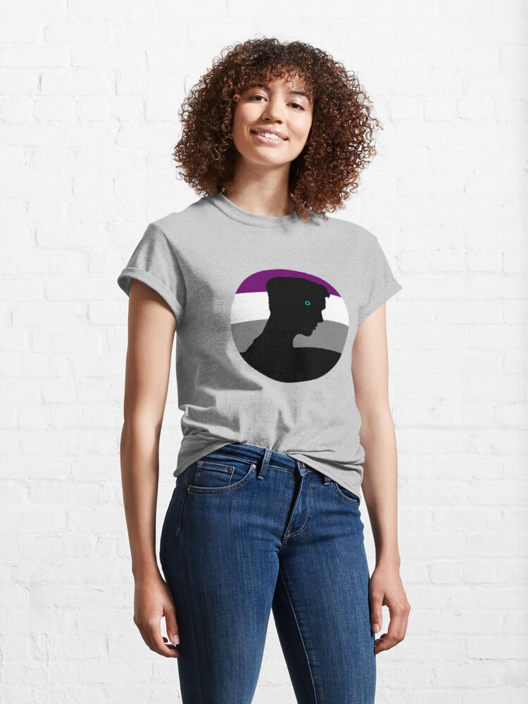 Alternate view of RK900 / Nines Asexual Flag Classic T-Shirt